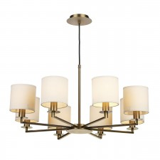 Tyler 8 Light Dual Mount Pendant Bronze