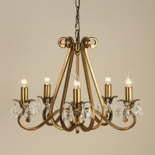 Interiors1900 Oksana 5-Light Chandelier Antique Brass