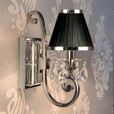 Interiors1900 Oksana Single Wall Light in Nickel