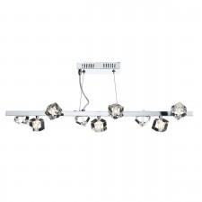 Dar Union 9-Light Bar Pendant Polished Chrome