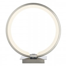 Velo Table Lamp Satin Chrome Led