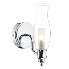 Vestry Single IP44 Wall Light - Polished Chrome