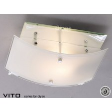 Diyas Vito Ceiling 2 Light Polished Chrome/Mirror