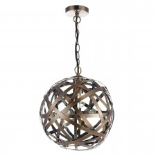 Voyage 1 Light Pendant Ball Antique Copper