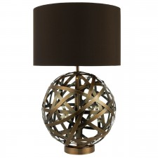 Voyage Table Lamp Antique Copper Ball complete with Shade