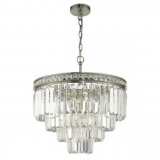 Vyana 4 Light 4 Tier Pendant Satin Nickel And Crystal