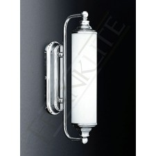 Franklite Mirror Wall Light - Chrome, Opal Glass