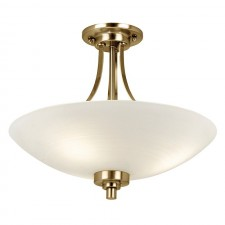 Welles Ceiling Light - Antique Brass