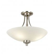 Welles Ceiling Light - Satin Chrome
