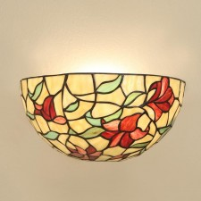 Interiors1900 Red Lilies Wall Light