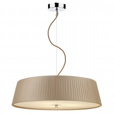 Wheel 3 Light Taupe Pendant