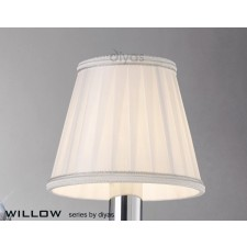 Diyas Willow White Small Clip On Shade