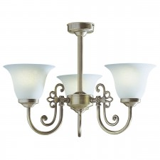 Woodstock Ceiling Light - 3 Light Antique