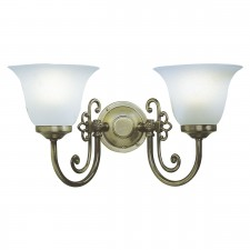 Woodstock Wall Light (Switched) - 2 Light Antique