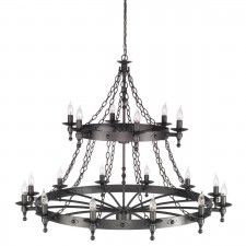Elstead WR18 GRAPHITE Warwick 18 - Light Chandelier Graphite