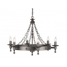 Elstead WR6 GRAPHITE Warwick 6 - Light Chandelier Graphite