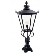 Elstead WSLN1 BLACK Wilmslow Pedestal Lantern Black