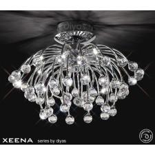 Diyas Xeena Ceiling 10 Light Polished Chrome/Crystal
