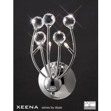Diyas Xeena Wall Lamp 3 Light Polished Chrome/Crystal Switched
