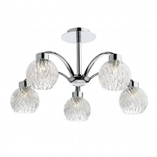 Yasmin 5 Light Semi Flush Polished Chrome