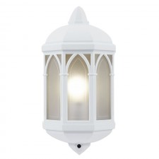Outdoor Flush Mounted Wall Light - White