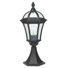 Elegant Post Lantern - Black