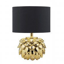 Zante Table Lamp Gold complete with Shade