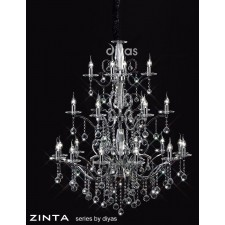 Diyas Zinta Crystal Ceiling 22 Light Polished Chrome