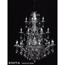 Diyas Zinta Crystal Ceiling 22 Light Polished Chrome