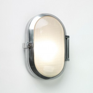 Astro Lighting Toronto Oval Outdoor Wall Light - 1 Light, Polished Aluminium