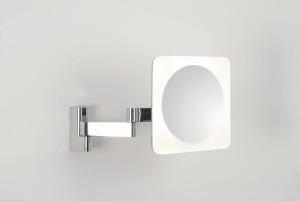 Astro Lighting Niimi Square LED Magnifying Mirror - 4 Light, Polished chrome