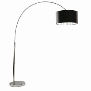 Modern Floor Lamp - Chrome & Shade