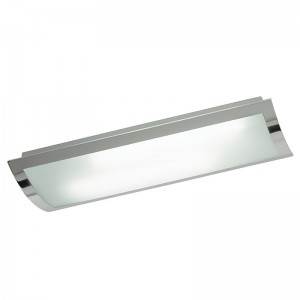 Chrome & Glass Flush Fitting - Large