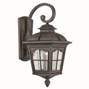 Pompeii IP44 Outdoor Hanging Wall Lantern - Cast Aluminium, Brown Finish