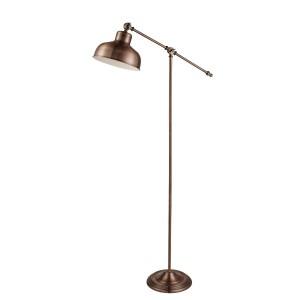 Searchlight Macbeth Range Industrial Adjustable Floor Lamp, Antique Copper