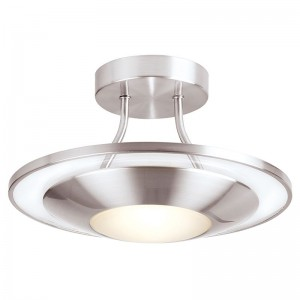 Halogen Kitchen Ceiling Light - Satin Chrome