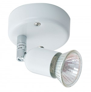 Oaks Lighting 4001 WH White Single Bas Gz10 Spot