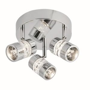 Bubbles LED IP44 Ceiling Plate - 3 Spot, Chrome