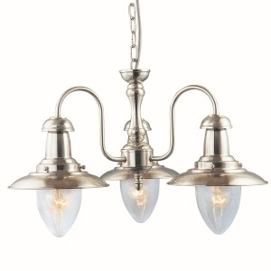 Fisherman Lantern Ceiling Light - silver 3 light