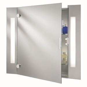 Bathroom Mirror illuminated - Shaver Socket