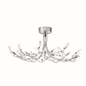 Wisteria Ceiling Light with white leaves