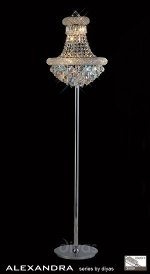 Diyas Alexandra Floor Lamp 8 Light Chrome/Crystal