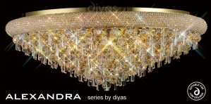 Diyas Alexandra Ceiling 18 Light French Gold/Crystal