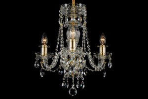 Bohemian BCC03AG Crystal Chandelier - 3-Light