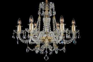 Bohemian BCC06AG Gold Crystal Chandelier - 6-Light