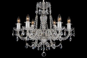 Bohemian BCC06AS Silver Crystal Chandelier - 6-Light