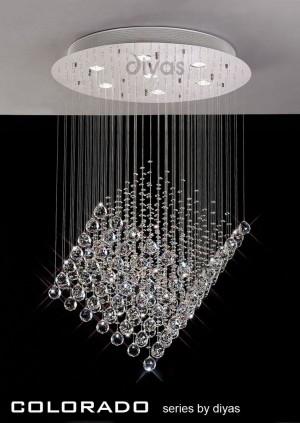 Diyas Colorado Pendant 7 Light Polished Chrome/Crystal