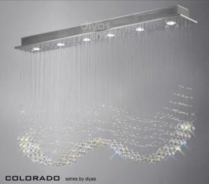 Diyas Colorado Pendant 6 Light Polished Chrome/Crystal