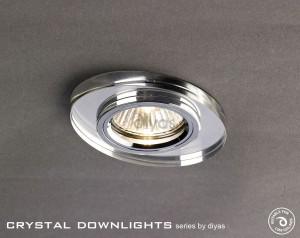 Diyas Oval Crystal Downlight Chrome (Rim Only)