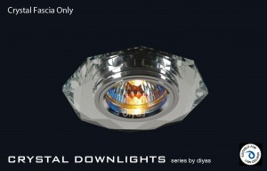 Diyas Clear Crystal Hexagonal Downlight (Rim Only)
